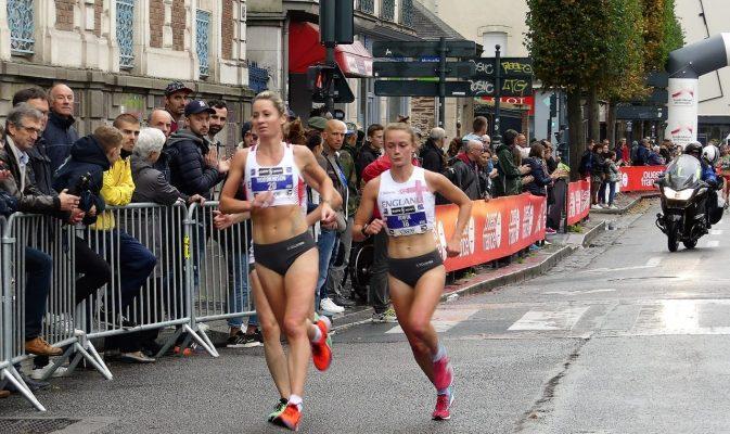 Hannah Irwin running for England