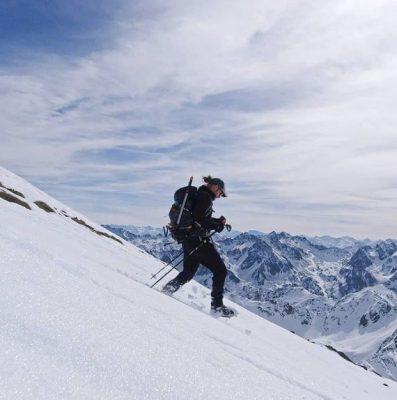 Running down the Pic Du Midi