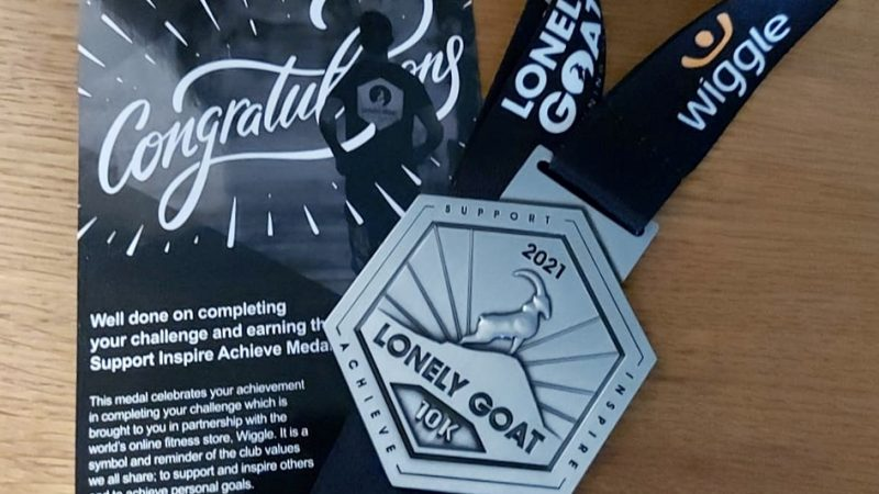 Lonely goat virtual medal and completion certificate