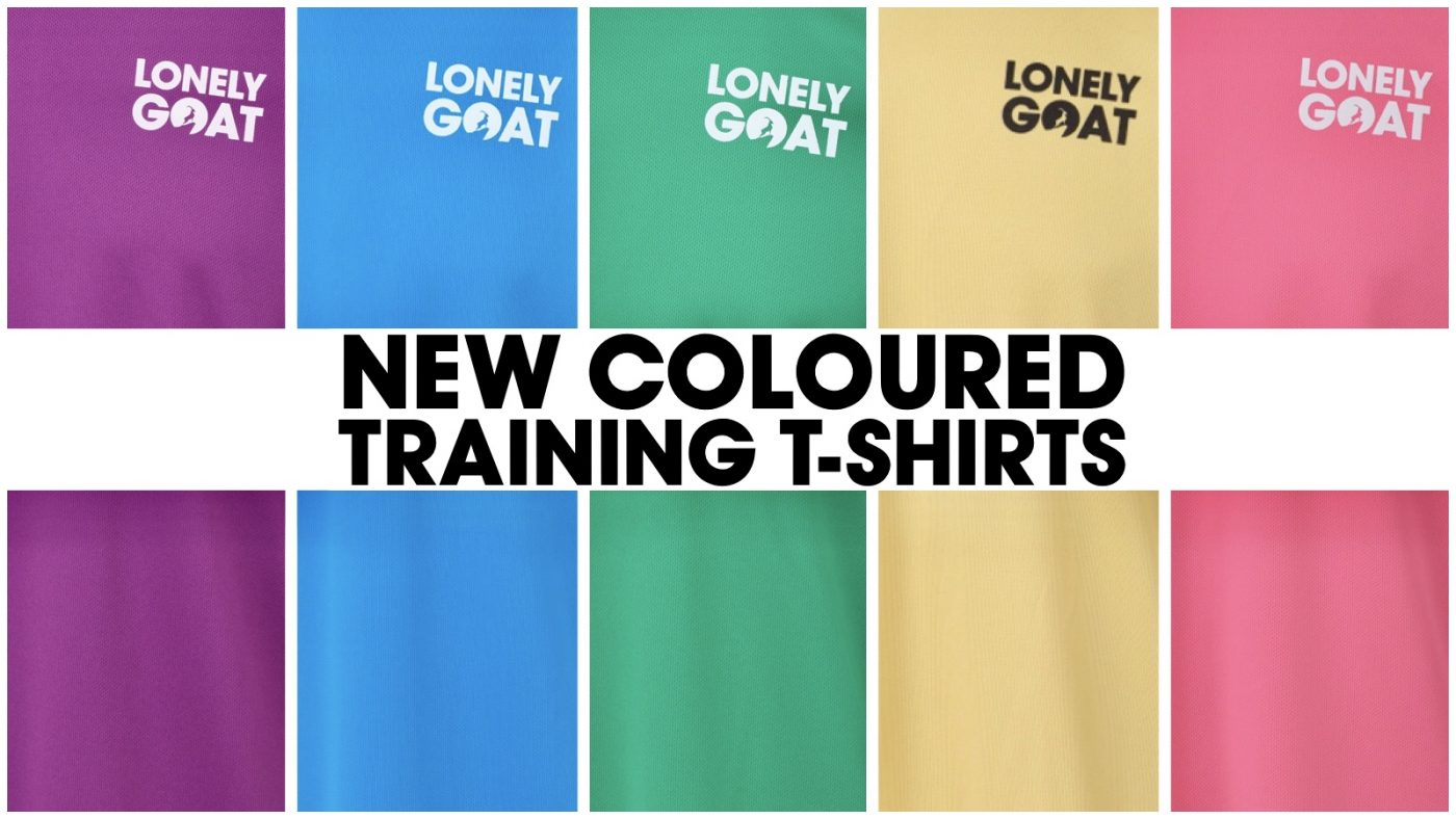 Header image for coloured training t-shirts announcement